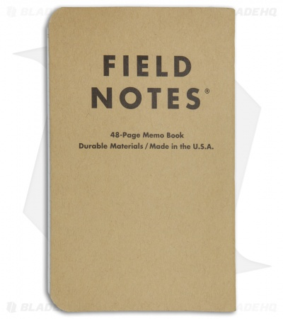 Field Notes Left-Handed Memo Ruled 3-Pack Notebook (Brown) FN-02L