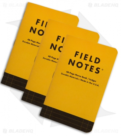 Field Notes Utility Ledger 3-Pack (Safety Yellow) FNC-34