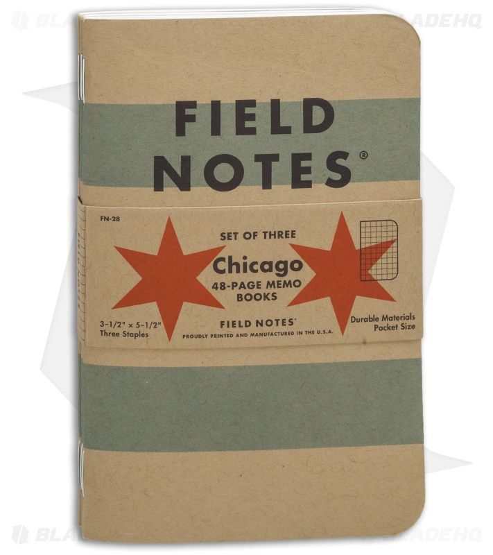 Field Notes Memo Graph Pack Chicago Edition Brown Fn  Blade Hq