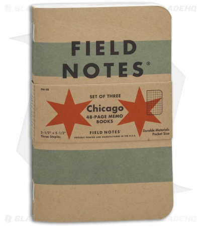 Field Notes Memo Graph 3-Pack Chicago Edition (Brown) FN-28