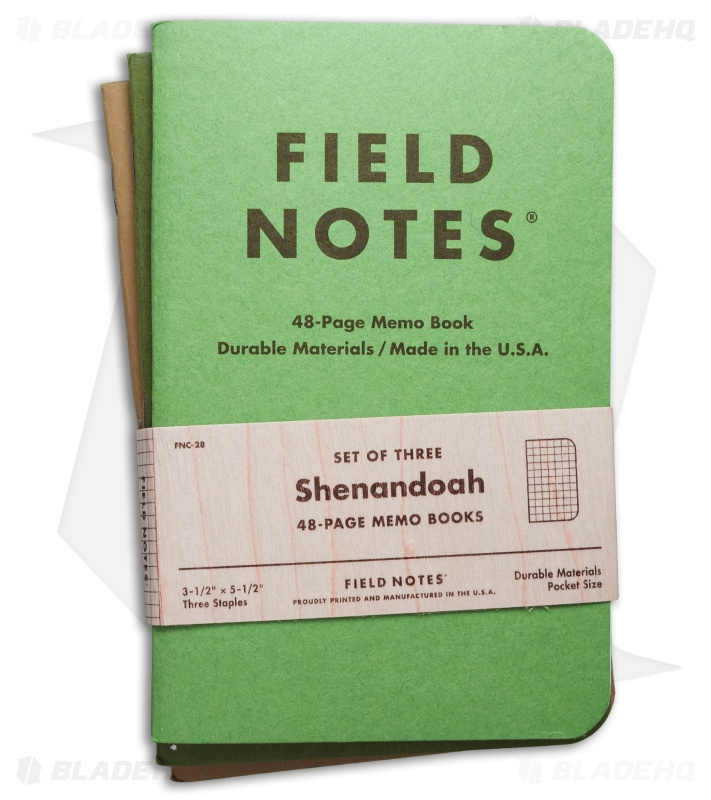 Field Notes Memo Graph Pack Shenandoah Edition Green Fnc