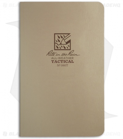 "Rite In The Rain Field Flex Tactical 4.5"" x 7.25"" Notebook (Tan) #980T"