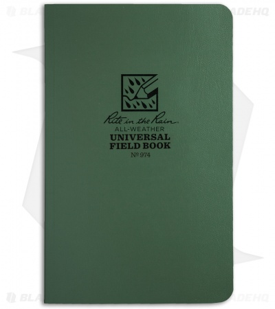 "Rite In The Rain Field Flex Universal 4.5"" x 7.25"" Notebook (Green) #974"