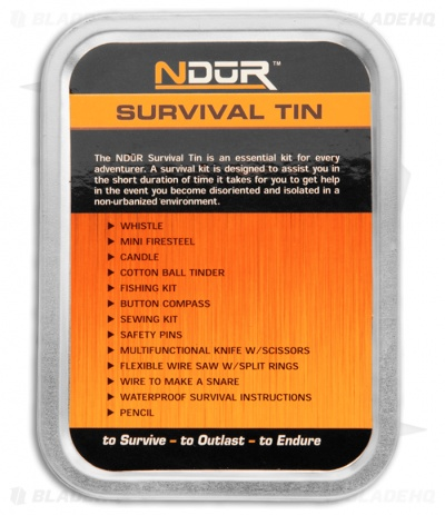 Ndur Survival Tin Adventurer Kit