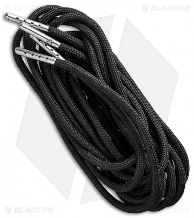 "Wasatch Outdoors 84"" Fire Starter Paracord Survival Laces (Black)"