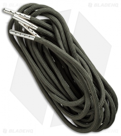 "Wasatch Outdoors 48"" Paracord Survival Laces w/Tinder & Fishing Line (OD Green)"