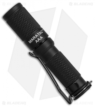 Maratac Black Anodized Aluminum AAA Flashlight Rev 5 Nichia 219 (145 Lumens)