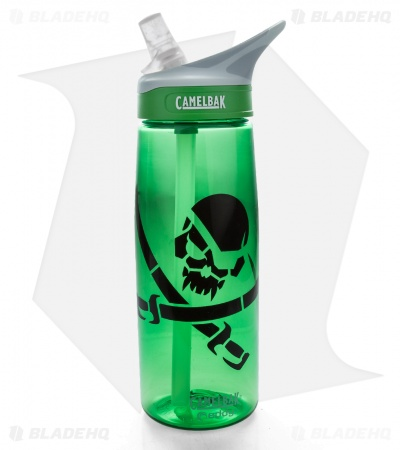 Camelbak Eddy Spill Proof Water Bottle GrassGreen (MSM Pirate Skull)