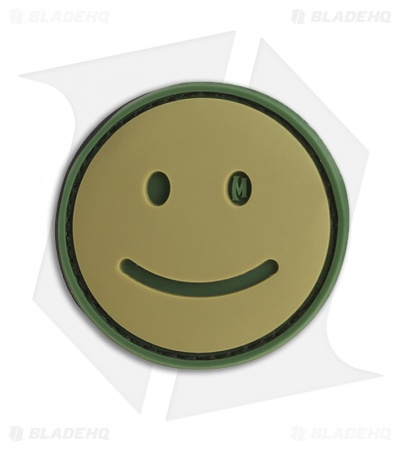 "Maxpedition 1.5"" x 1.5"" Happy Face Morale PVC Patch (Arid)"
