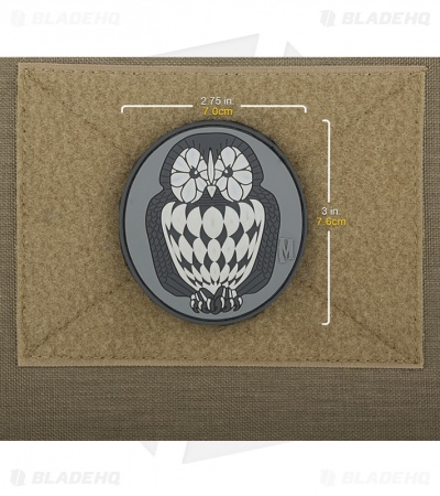 "Maxpedition 2.75"" x 3"" Owl Patch Morale PVC Patch (SWAT)"