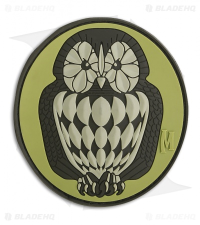 "Maxpedition 2.75"" x 3"" Owl Patch Morale PVC Patch (Arid)"