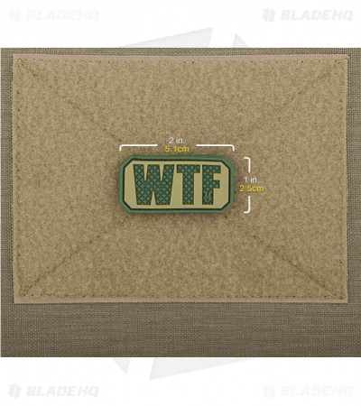 "Maxpedition 2"" x 1"" WTF Morale PVC Patch (Arid)"