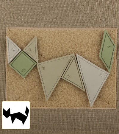 "Maxpedition 3"" x 3"" Tangram 7-Piece Patch Puzzle (Arid)"