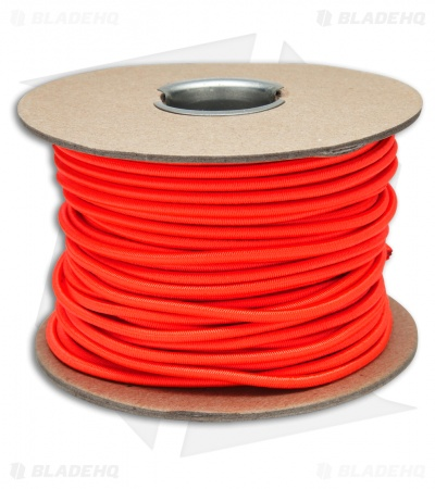 "E.L. Wood Braiding 1/8"" Nylon Shock Cord Neon Orange (100 Ft. ) USA"