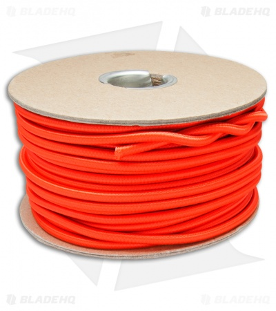 "E.L. Wood Braiding 3/16"" Nylon Shock Cord Neon Orange (100 Ft. ) USA"