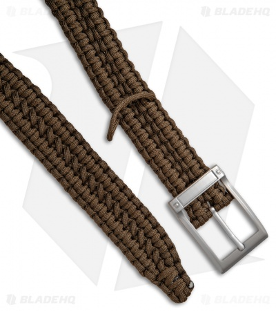 Stone River Gear 550 Paracord Belt - Coyote Brown