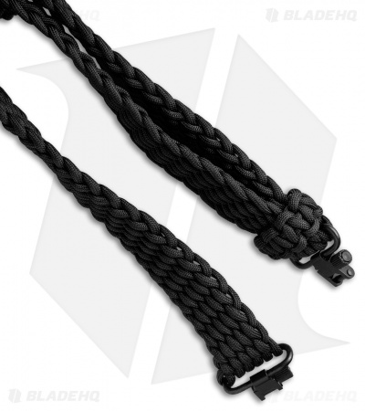 Stone River Gear 550  Paracord Rifle Sling - Black/Coyote Brown