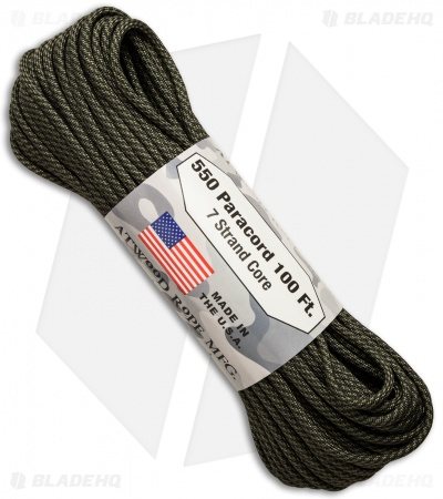 Atwood 550 Lb. Paracord 100 Ft. 7 Strand Core (Comanche)