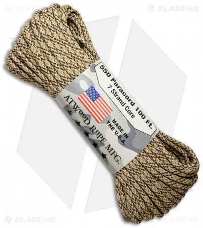 Atwood Rope Mfg. 550 Lb. Paracord 100 Ft. 7 Strand Core (Desert) RG1050H