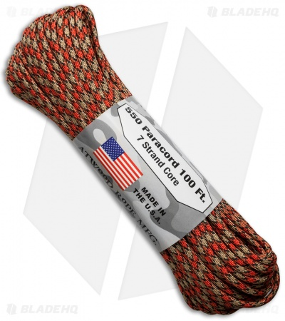 Atwood 550 Lb. Paracord 100 Ft. 7 Strand Core (Mercury) RG1097H