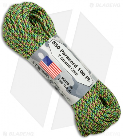 Atwood Rope Mfg. 550 Lb. Paracord 100 Ft. 7 Strand Core (Party) RG1098H