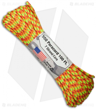 Atwood Rope 550 Lb. Paracord 100 Ft. 7 Strand Core (Star Burst) RG1069H