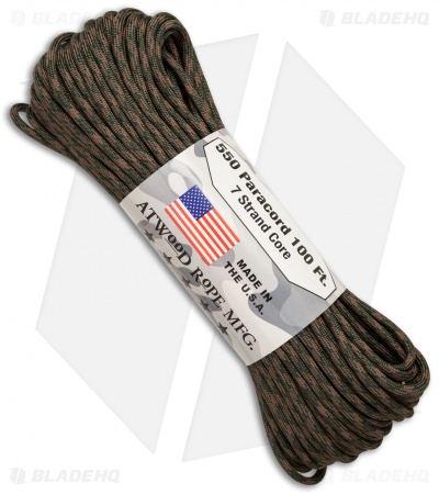 Atwood 550 Lb. Paracord 100 Ft. 7 Strand Core (Wetland) RG1048H