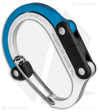 "Qliplet ""Blue Steel"" Carabiner Clip and Hook Blue/Black QLIP11"