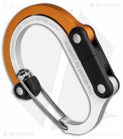 "Qliplet ""Orange Crush"" Carabiner Clip and Hook Orange/Black QLIP12"