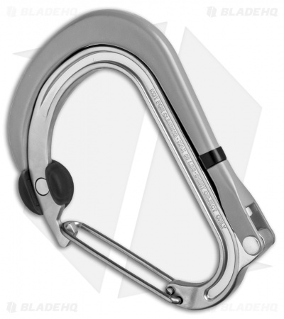 "Qlipter ""Stone"" Carabiner Clip and Hook Gray/Black Qlip04"