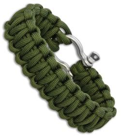 Combat Ready Survival Bracelet Large 9 Od Green Paracord W Metal Buckle