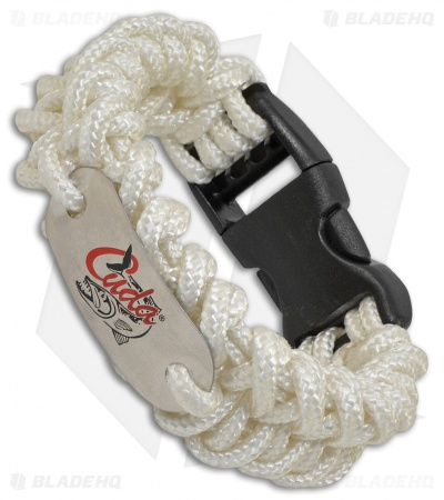 Camillus Cuda Womens Small Paracord Survival Bracelet (White)