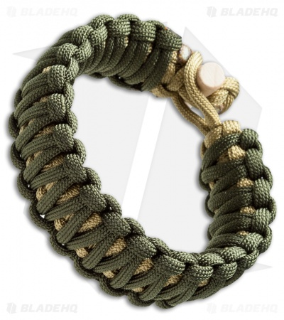 Klecker KLAX Paracord Bracelet - Green/Tan