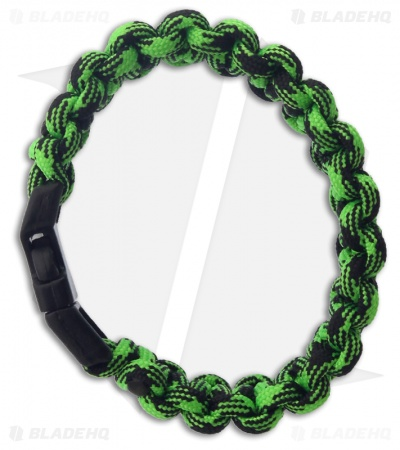 "Knot Boys 1"" Single Tied Paracord Survival Bracelet Fat Boy (Zombie Green)"