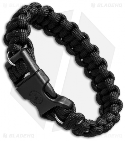 "UST 8"" Survival Bracelet with Wire Saw- Black"