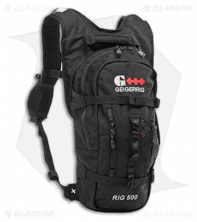 Geigerrig RIG 500 Black Ballistic Hydration Pack w/ 70 oz. Bladder
