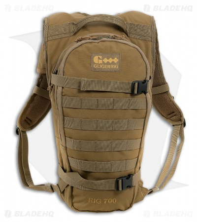 Geigerrig RIG 700 Tactical Coyote Hydration Pack w/ 70 oz. Bladder