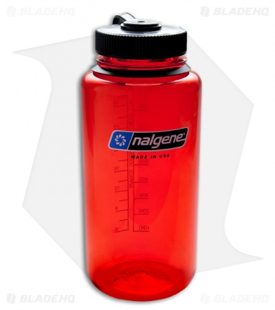 Nalgene Everyday 32oz Wide Mouth Bottle (Lollipop Red)