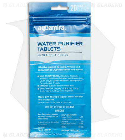 Aquamira Microbiological Water Purifier Tablets (20 Pack)