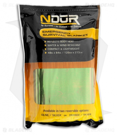 Ndur Emergency Survival Blanket (Olive)