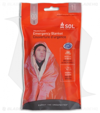 Adventure Medical SOL Heatsheet Emergency Blanket Shelter (1 Person)