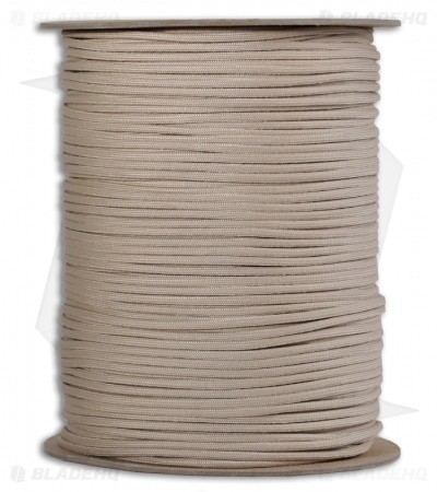 Spool of Tan 550 Paracord Nylon Braided 7-Strand Core (1000') USA