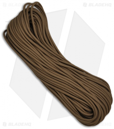 Brown 550 Paracord Nylon Braided 7-Strand Core (100') USA