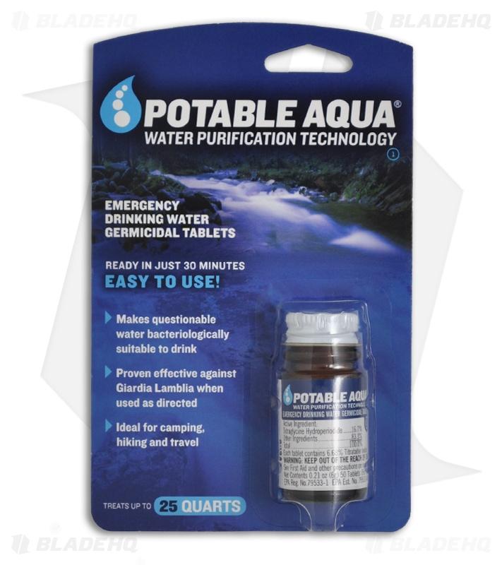 Excellent Potable Aqua Drinking Water Germicidal Tablets Download Free Architecture Designs Xoliawazosbritishbridgeorg