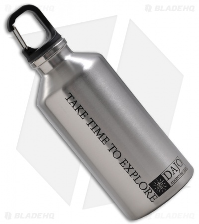 Dajo Adventure Gear Stainless Steel Water Bottle w/ Carabiner (600 ml)