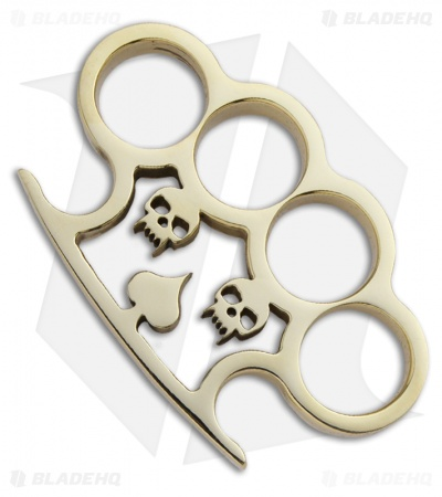 American Made Knuckles Wicked Polished Brass Knuckle Weight