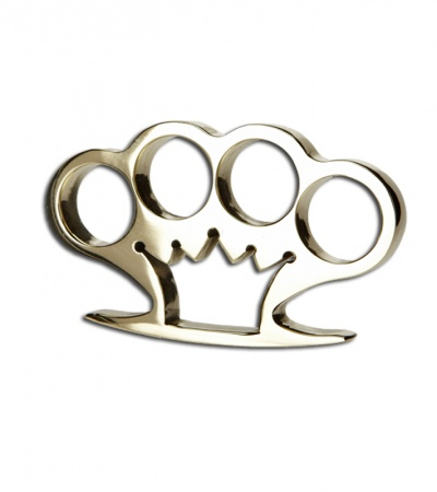 American Made Knuckles Crown Polished Brass Knuckle Weight