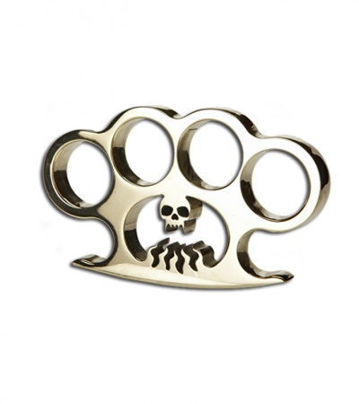 American Made Knuckles Hellfire Polished Brass Knuckle Weight