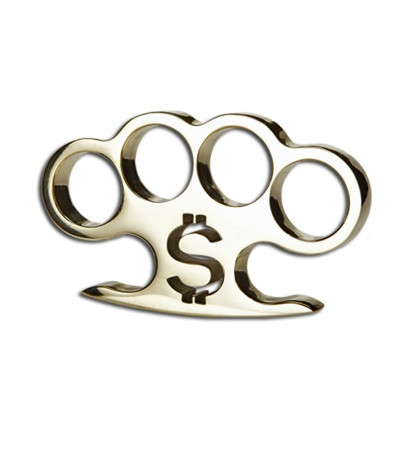American Made Knuckles $ Pay Up Polished Brass Knuckle Weight