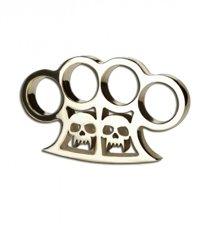 American Made Knuckles Slayer Polished Brass Knuckle Weight